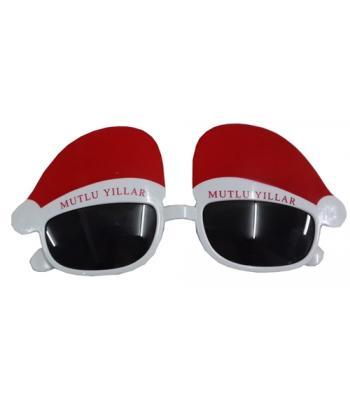 Noel baba şapkası gözlük