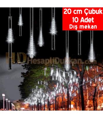 Akan ışık yılbaşı led meteor yağmuru 20 cm