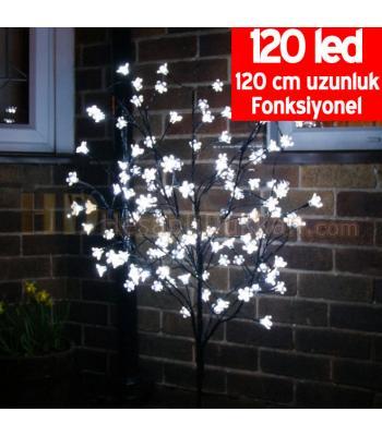 Işıklı yılbaşı ağacı led çiçekli