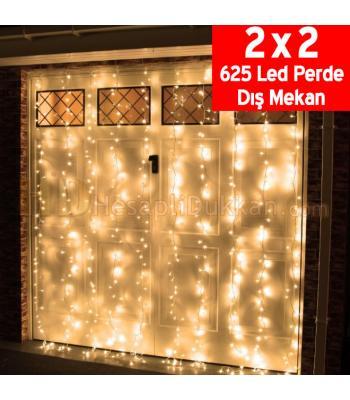 Perde yılbaşı ışıkları 625 led dış mekan sarı