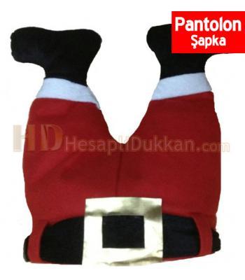 Pantolon şeklinde noel baba şapkası