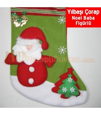 Noel baba yılbaşı çorabı