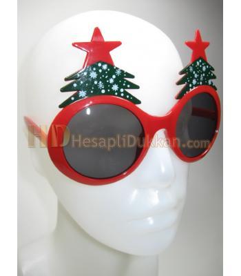 Yılbaşı ağacı şeklinde parti gözlüğü