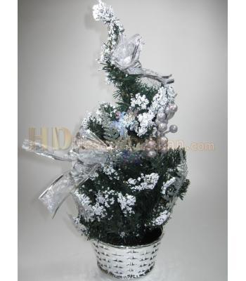 Masa üstü yılbaşı ağacı gümüş renk