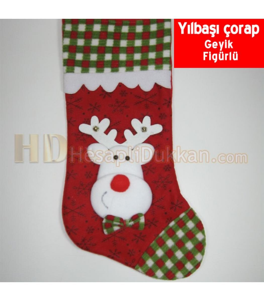 Yılbaşı çorapları Noel Baba çorap Yılbaşı çorabı