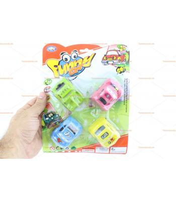 Dörtlü promosyon oyuncak araba seti