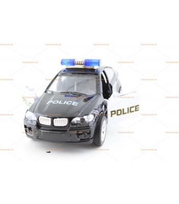 Metâl çek bırak polis arabası