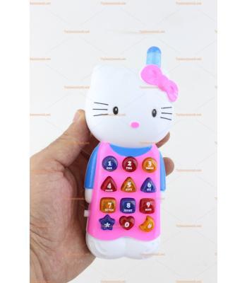 Toptan hello kitty telefon sesli ışıklı müzikli