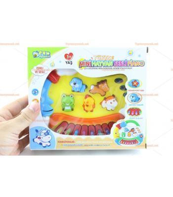 Toptan eğitici oyuncak piyano hayvanlı sesli ışıklı