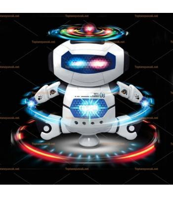 Işıklı müzikli lazerli dans eden robot