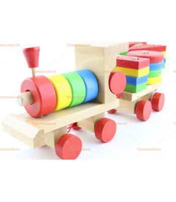Toptan ahşap eğitici oyuncak tren