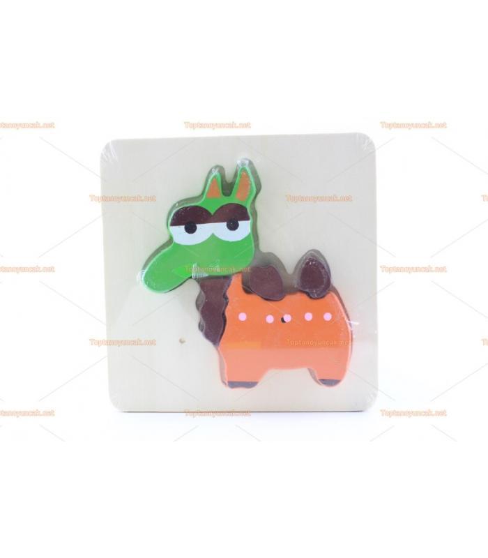 Ahşap 2d puzzle eğitici oyuncak