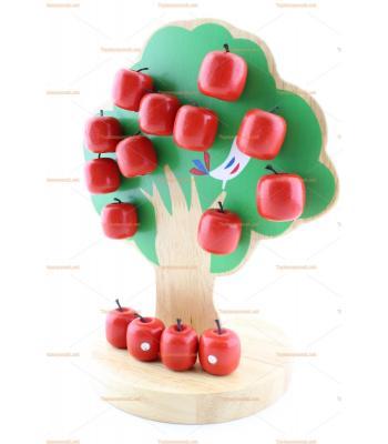 Eğitici ahşap oyuncak elma ağacı