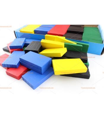 Toptan eğitici oyuncak ahşap domino 105 parça