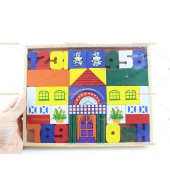 Toptan eğitici ahşap oyuncak renkli bloklar