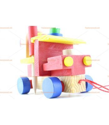 Toptan ahşap eğitici oyuncak sök tak iş makinesi