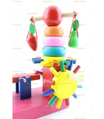 Toptan ahşap eğitici oyuncak değirmen