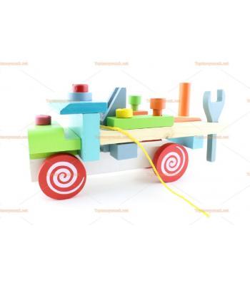 Toptan sök tak kamyon ahşap eğitici oyuncak