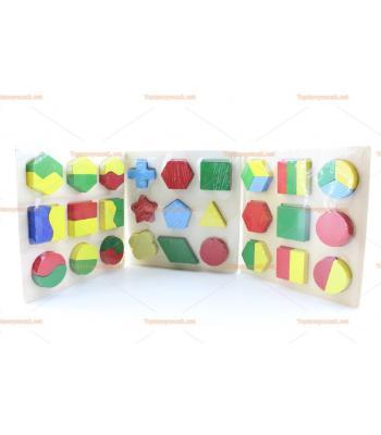 Toptan üçlü geometrik blok eğitici oyuncak seti