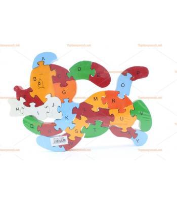 Toptan ahşap parçalı puzzle yapboz köpek