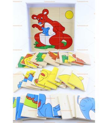 Toptan ahşap parçalı puzzle dörtlü set