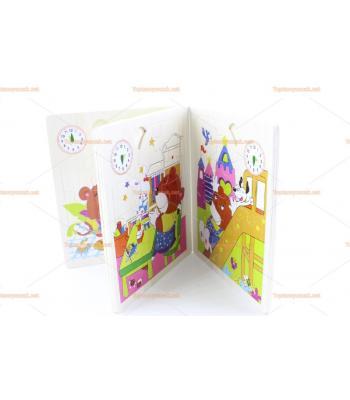 Kitap şeklinde 6 lı ahşap yapboz seti