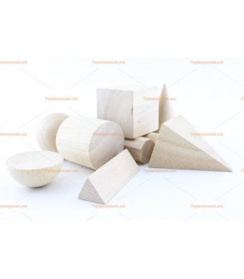 Toptan ahşap eğitici oyuncak geometri şekilleri
