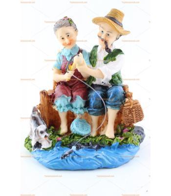 Toptan hediyelik eşya balıkçı çift biblo