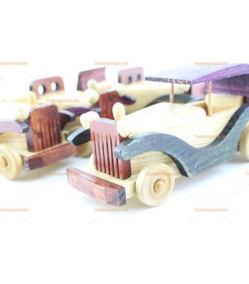 Toptan ahşap hediyelik eşya dörtlü araba seti