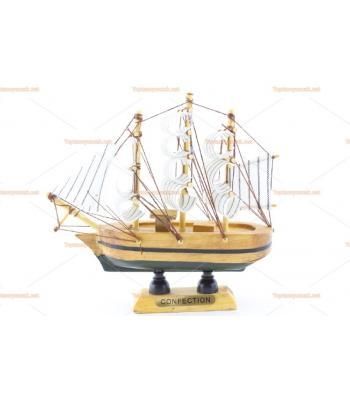 Toptan hediyelik eşya mini ahşap yelkenli gemi