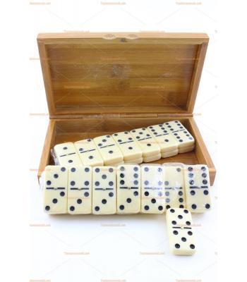 Toptan promosyon bambu domino