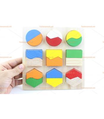 Toptan geometri ahşap eğitici oyuncak