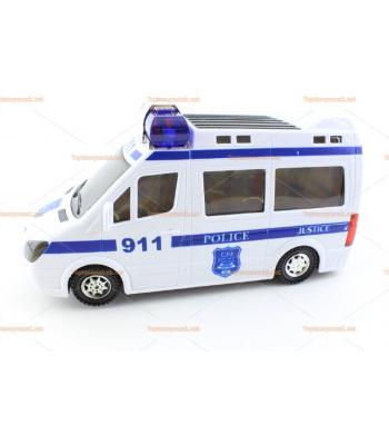 Toptan 3D ışıklı oyuncak polis minibüsü