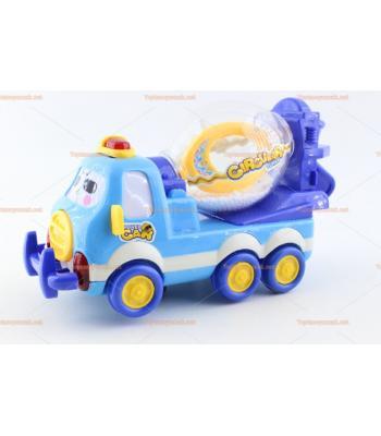 Toptan ışıklı oyuncak beton kamyon mikseri