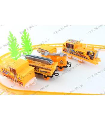 Toptan oyuncak tren iş makinesi seti 4 vagonlu