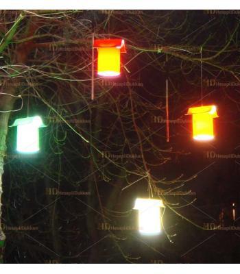 Ağaç feneri bahçe feneri şapkalı su geçirmez dış mekan