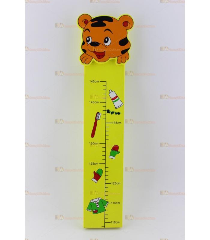 Ahşap boy ölçme cetveli katlanır renkli eğitici