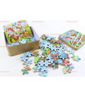 Toptan teneke kutulu puzzle en güzel promosyon oyuncağı