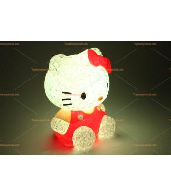 Toptan renk değiştiren silikon ışıklı oyuncak lamba hello kitty