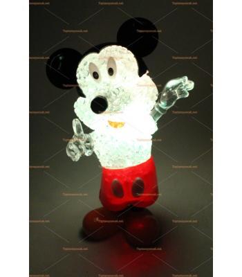 Toptan silikon lamba mikki fare renk değiştiren oyuncak
