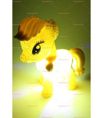 Toptan silikon lamba renk değişen ponny at oyuncak