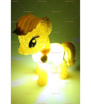 Toptan ışıklı oyuncak renk değiştiren silikon my little ponny