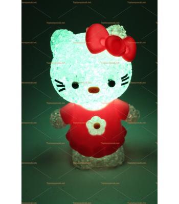 Toptan renk değiştiren silikon lamba hello kitty