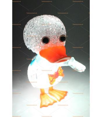 Toptan ışıklı oyuncak silikon renk değiştiren lamba ördek