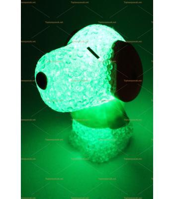 Toptan silikon renk değiştiren ışıklı oyuncak köpek