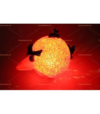 Toptan angry birds renk değiştiren silikon lamba