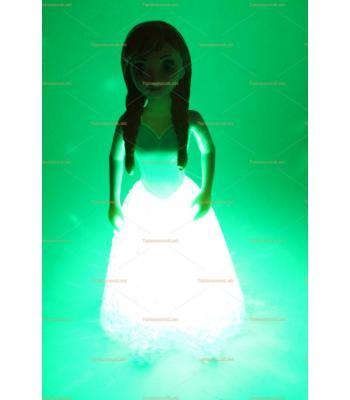 Toptan silikon gece lambası frozzen enna oyuncak
