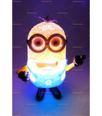 Toptan renk değiştiren lamba silikon oyuncak ışıklı minyonlar