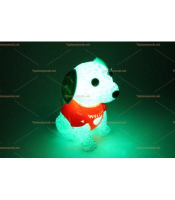 Toptan ucuz ışıklı oyuncak silikon lamba köpek