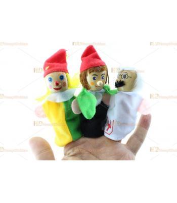 Parmak kukla eğitici oyuncak 6 lı paket